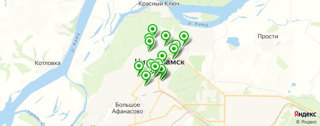 рестораны с танцполом на карте Нижнекамска