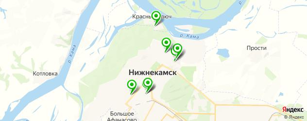 спортивные школы на карте Нижнекамска
