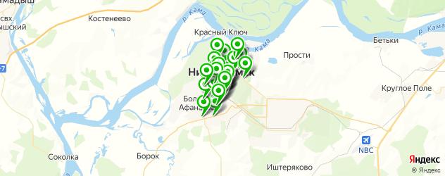 магазины автоаксессуаров на карте Нижнекамска