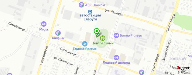 стадионы на карте Елабуги