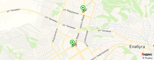 суши-бары на карте Елабуги