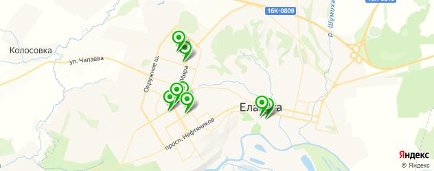 Доставка роллов на карте Елабуги