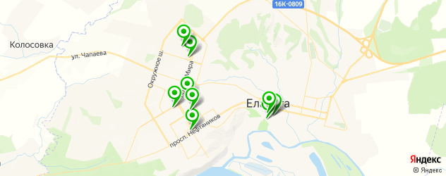 Доставка пиццы на карте Елабуги