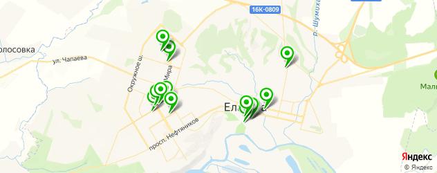 службы доставки еды на карте Елабуги