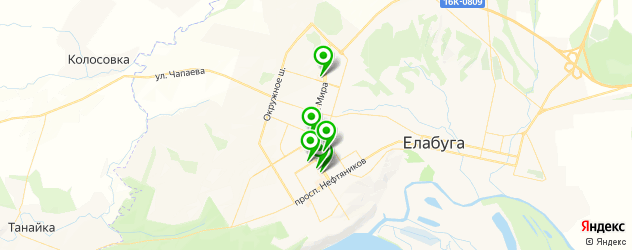 меховые ателье на карте Елабуги