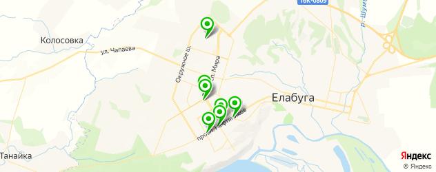салоны оптики на карте Елабуги