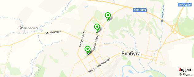 магазины автозвука на карте Елабуги