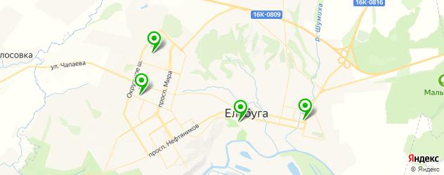 фитнес-клубы на карте Елабуги