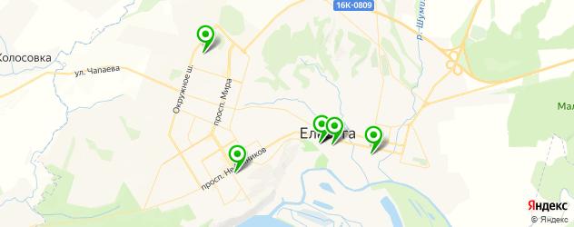 библиотеки на карте Елабуги