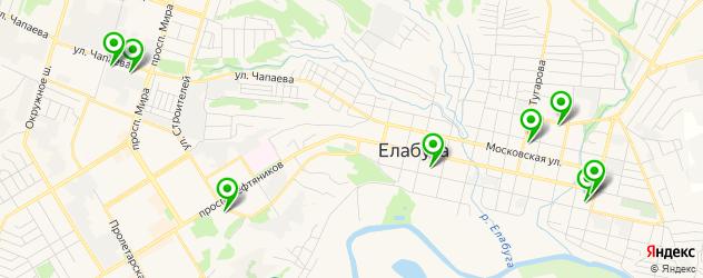 ВУЗы на карте Елабуги