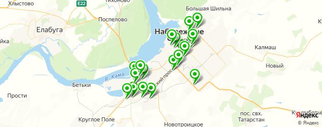 эвакуаторы на карте Набережных Челнов