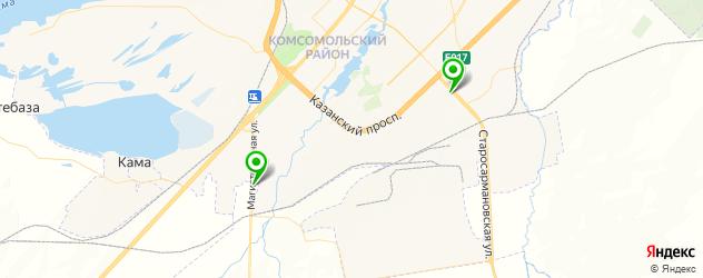 ремонт турбин грузовых автомобилей на карте Набережных Челнов