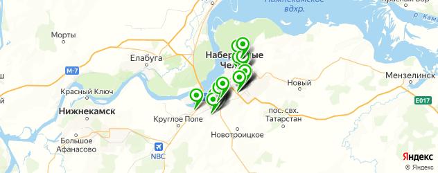 стекольные мастерские на карте Набережных Челнов