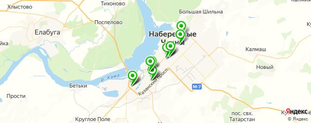 больницы на карте Набережных Челнов