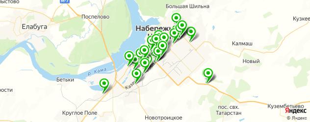 Авто на карте Набережных Челнов