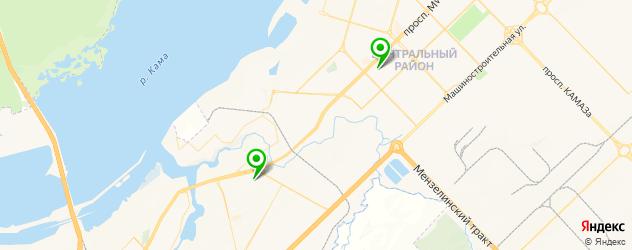 травмпункты на карте Набережных Челнов