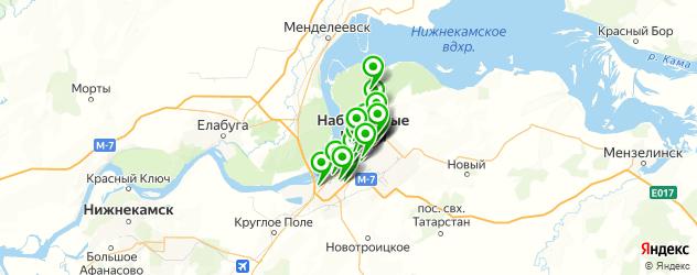 рестораны с живой музыкой на карте Набережных Челнов
