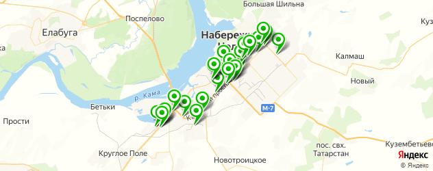 автосалоны на карте Набережных Челнов