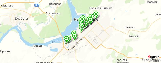 Доставка роллов на карте Набережных Челнов