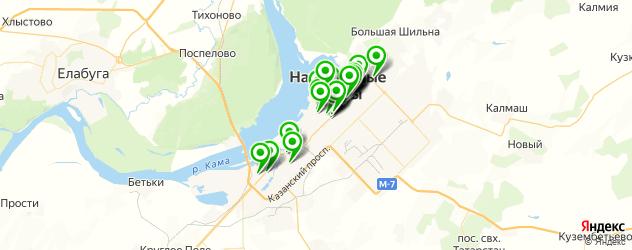 Доставка пиццы на карте Набережных Челнов