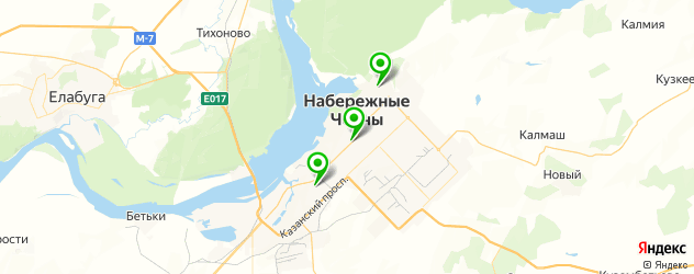 прачечные на карте Набережных Челнов