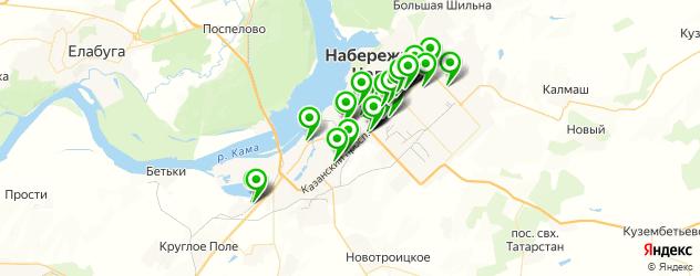 магазины запчастей на карте Набережных Челнов