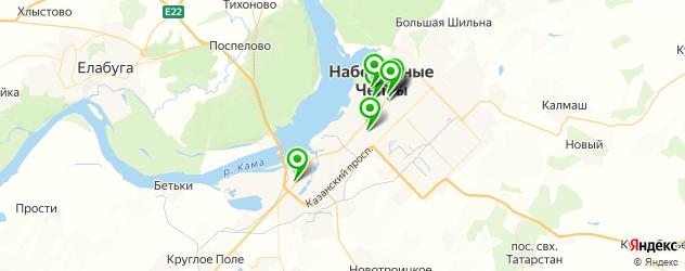 бары с живой музыкой на карте Набережных Челнов
