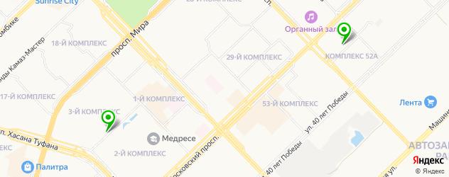 боулинги на карте Набережных Челнов