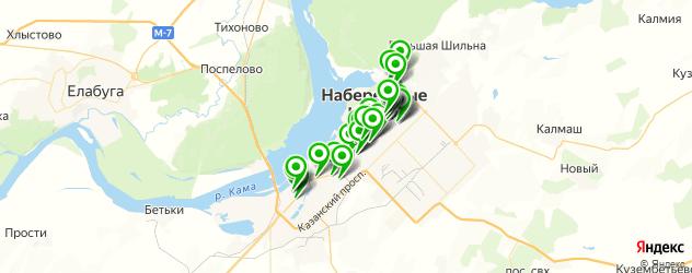 институты на карте Набережных Челнов