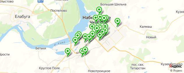 столовые на карте Набережных Челнов