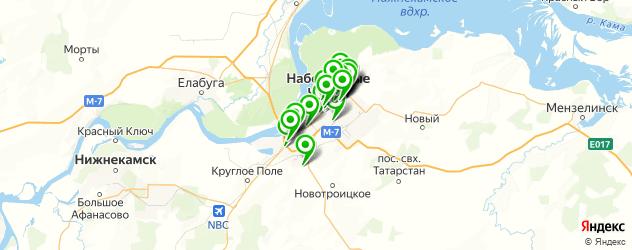 банкоматы с функцией приема наличных на карте Набережных Челнов