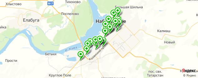 химчистки на карте Набережных Челнов