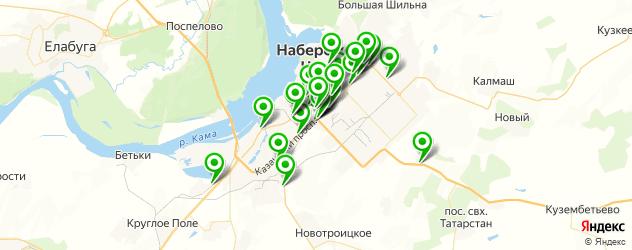автосервисы на карте Набережных Челнов