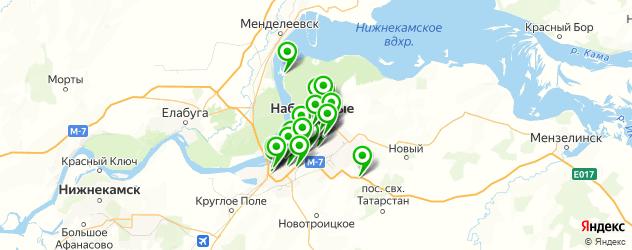сауны на карте Набережных Челнов