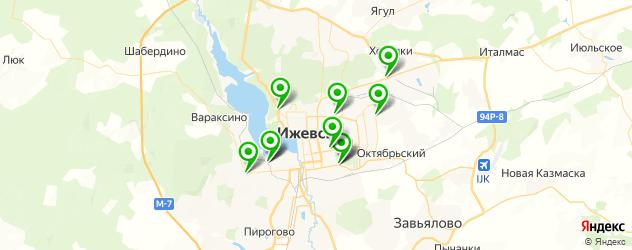 авторазборки на карте Ижевска
