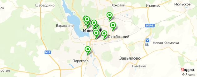 университеты на карте Ижевска