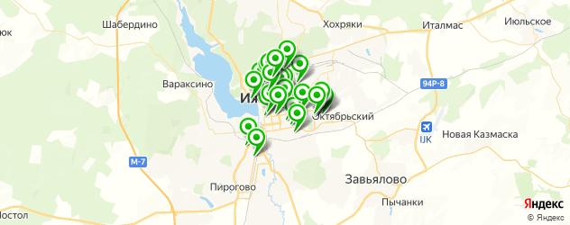 детские стоматологические поликлиники на карте Ижевска