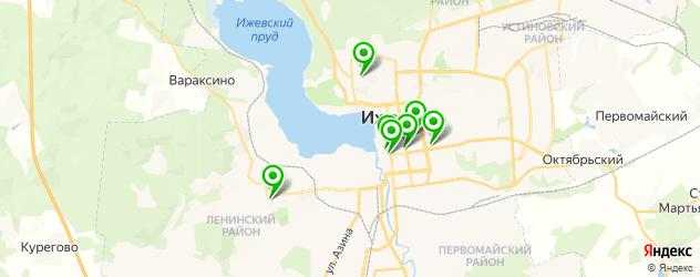 антикафе на карте Ижевска