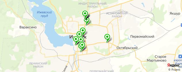 вегетарианские рестораны на карте Ижевска