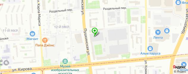 модельные агентства на карте Ижевска