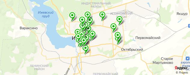 бары на карте Ижевска