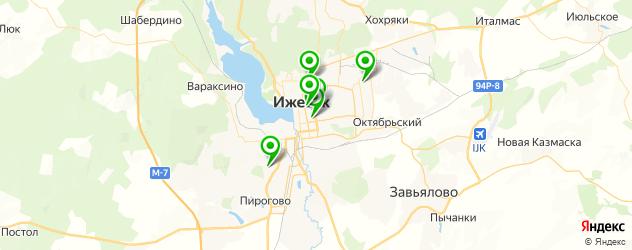 гимназии на карте Ижевска