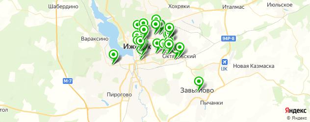 салоны оптики на карте Ижевска