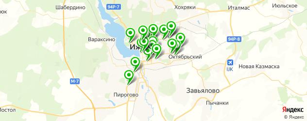 караоке-клубы на карте Ижевска