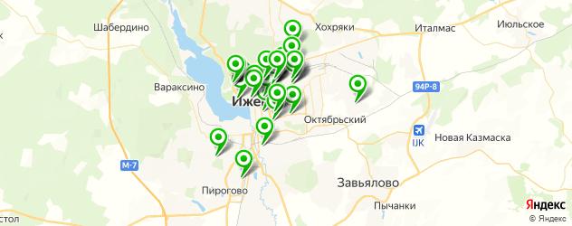 общежития на карте Ижевска