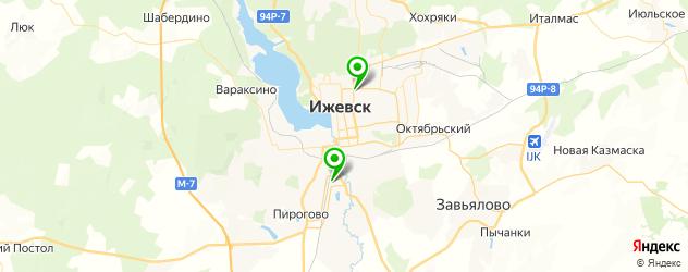 грузинские рестораны на карте Ижевска