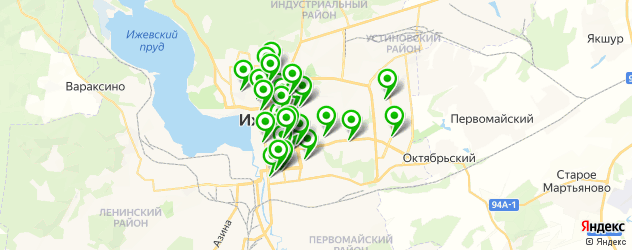 студии маникюра на карте Ижевска
