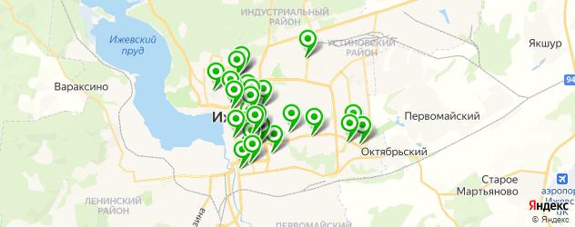 салоны красоты на карте Ижевска