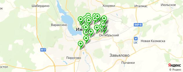 йога-центры на карте Ижевска