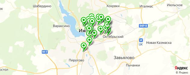 йога на карте Ижевска